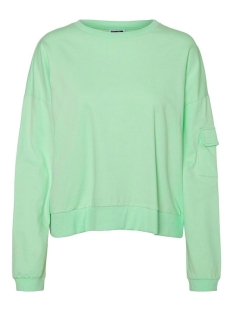 nmpocket l/s sweat  pullover fd 27012044 noisy may sweater green ash