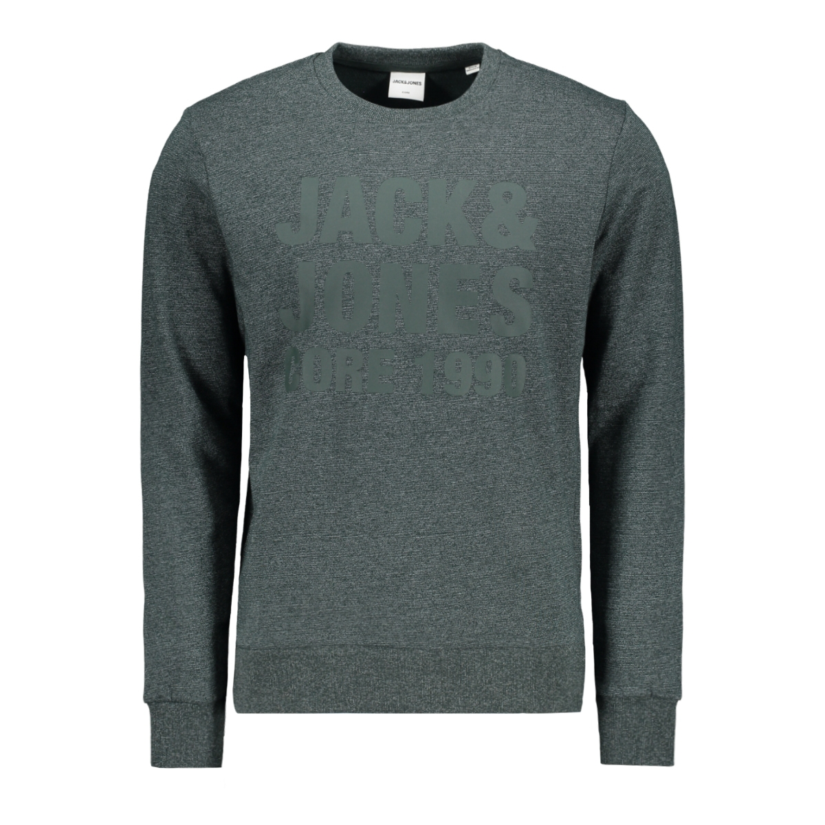 jcohuke sweat crew neck 12171070 jack & jones sweater darkest spruce/melange