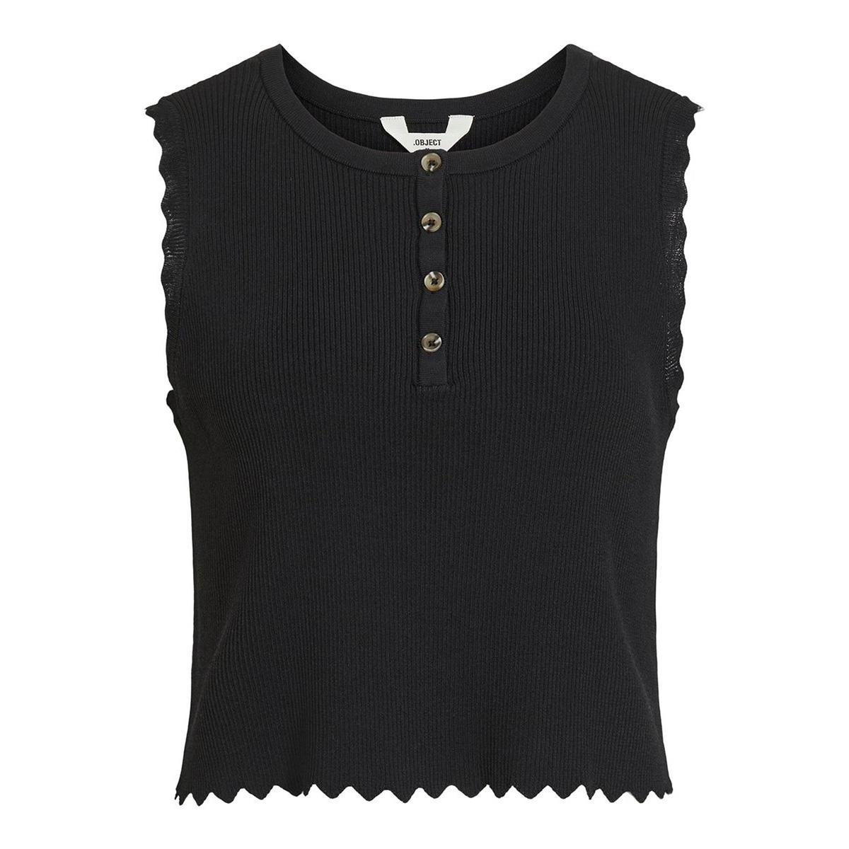 objharriet knit tank 108 23032441 object top black