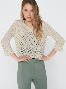 jdynew sun 3/4 cropped pullover knt 15212788 jacqueline de yong trui tapioca