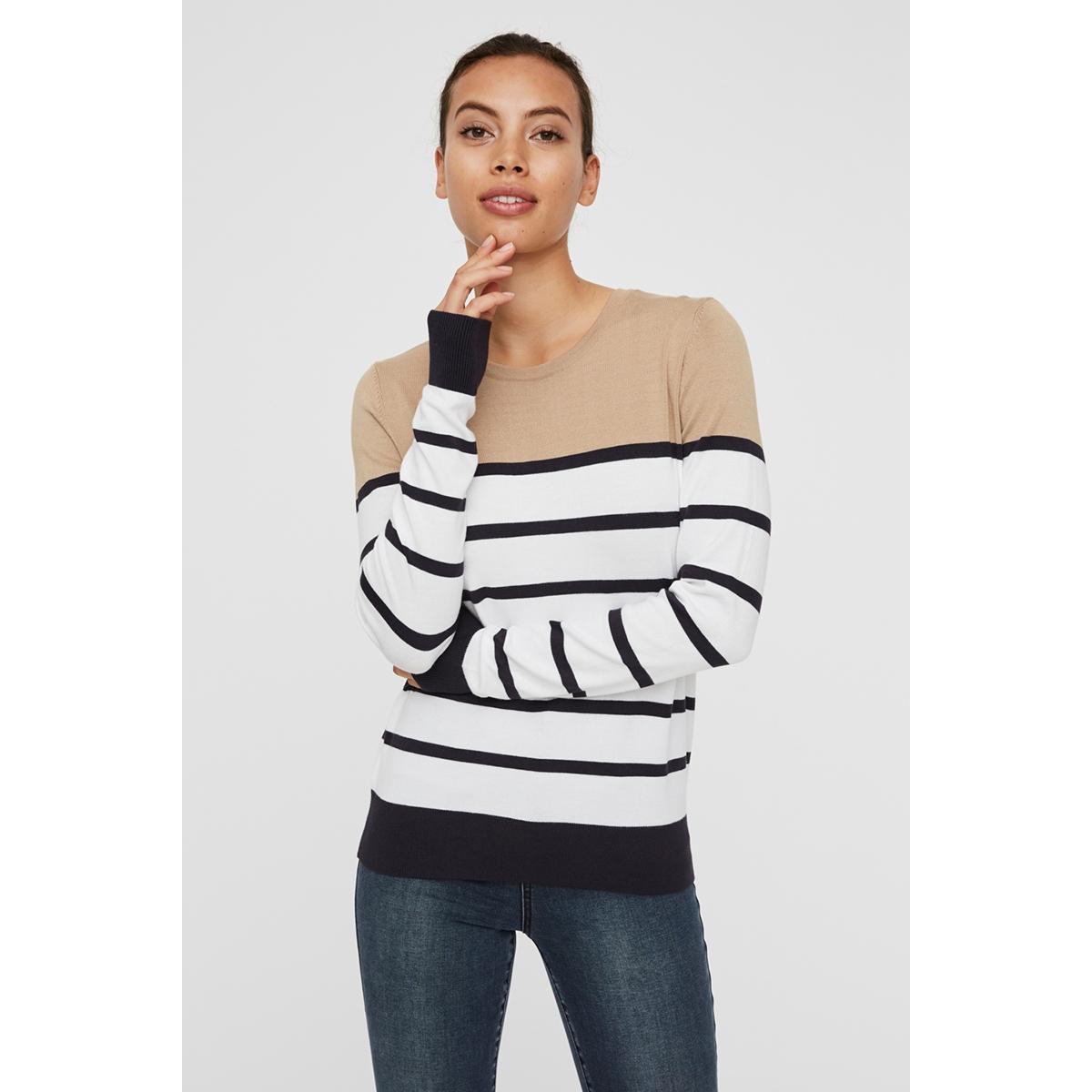 vmlacole ls block blouse boo 10223742 vero moda trui nomad/w. night sky