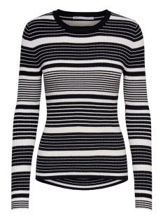 Only Trui ONLNATALIA STRIPE  L/S PULLOVER KNT 15192525 Black Stripes/CLOUD DANCER