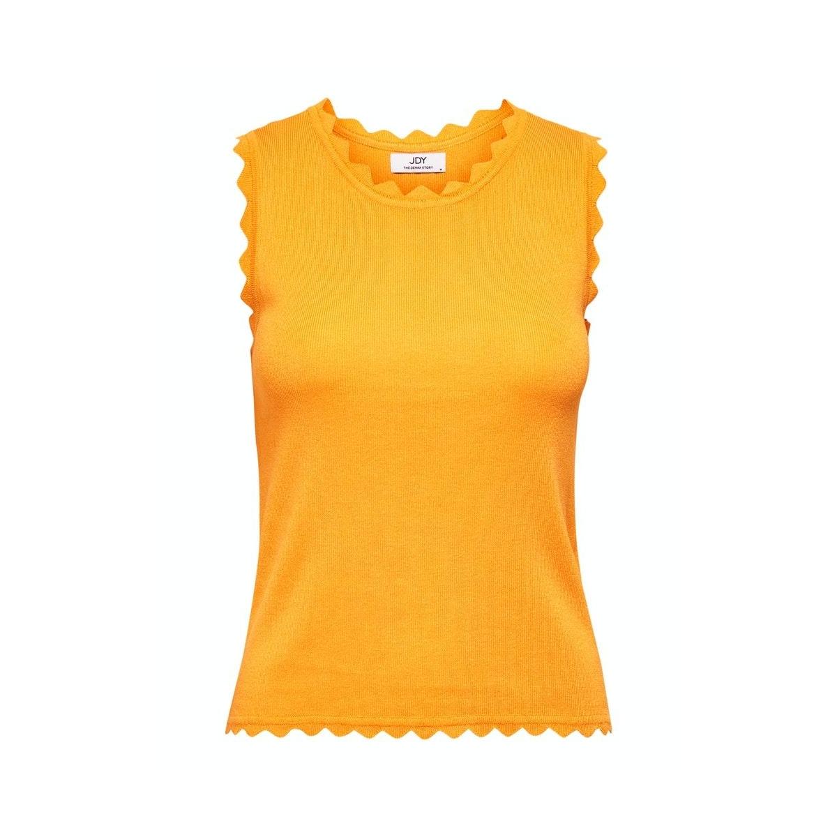 jdydelilah s/l top knt denim 15200523 jacqueline de yong top kumquat