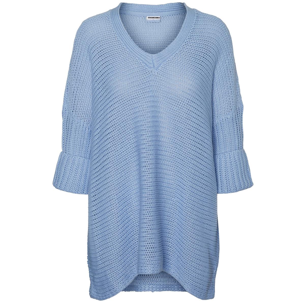 nmvera 3/4 v-neck knit 27005581 noisy may trui serenity