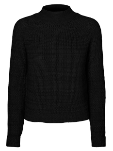 nmsiesta l/s high neck cropped knit 27005510 noisy may trui black