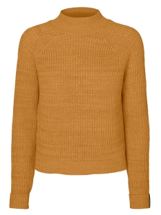 nmsiesta l/s high neck cropped knit 27005510 noisy may trui inca gold