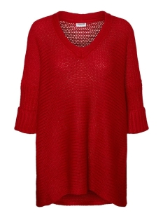 Noisy may Trui NMVERA 3/4 V-NECK KNIT 27005581 Haute Red