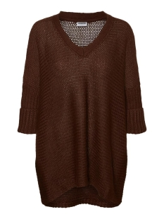 Noisy may Trui NMVERA 3/4 V-NECK KNIT 27005581 Chicory Coffee