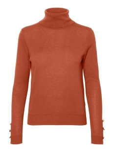 Vero Moda Trui VMMILDA LS ROLLNECK BUTTON SLIT BLO 10231724 Auburn/W LIGHT G