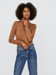 Vero Moda Trui VMMILDA LS ROLLNECK BUTTON SLIT BLO 10231724 Tobacco Brown