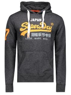 m20009anf2 hew hood superdry sweater black jaspe