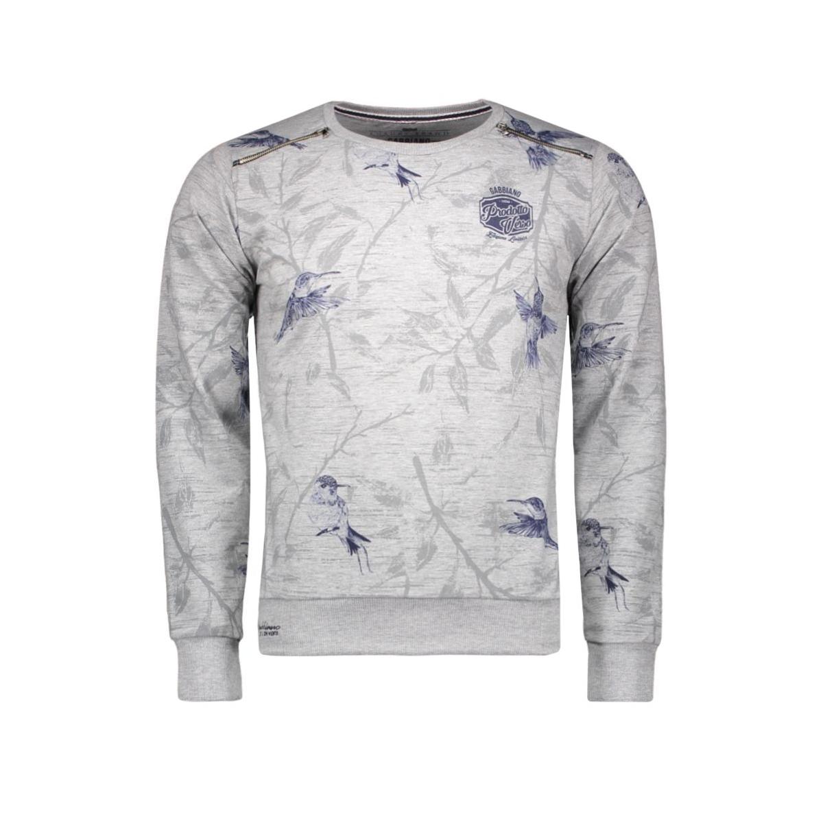 5378 gabbiano sweater grijs
