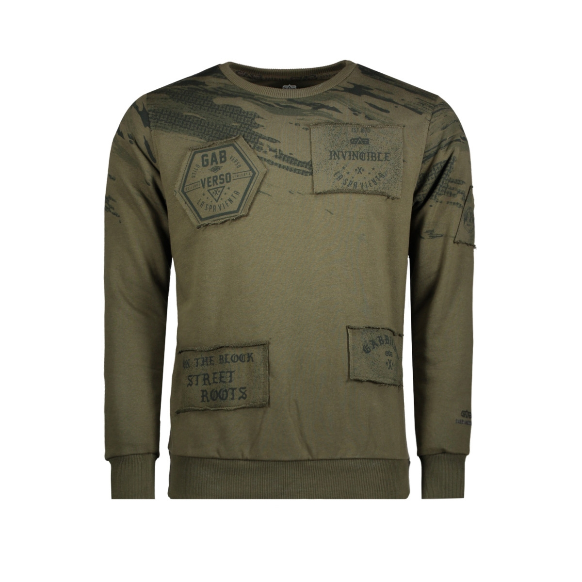 76132 gabbiano sweater army