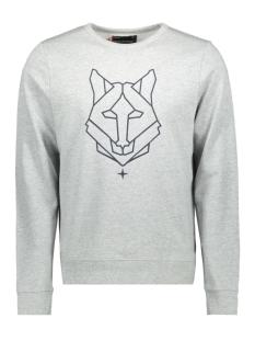 Haze & Finn sweater MU10 0421 LIGHT GREY MELANGE