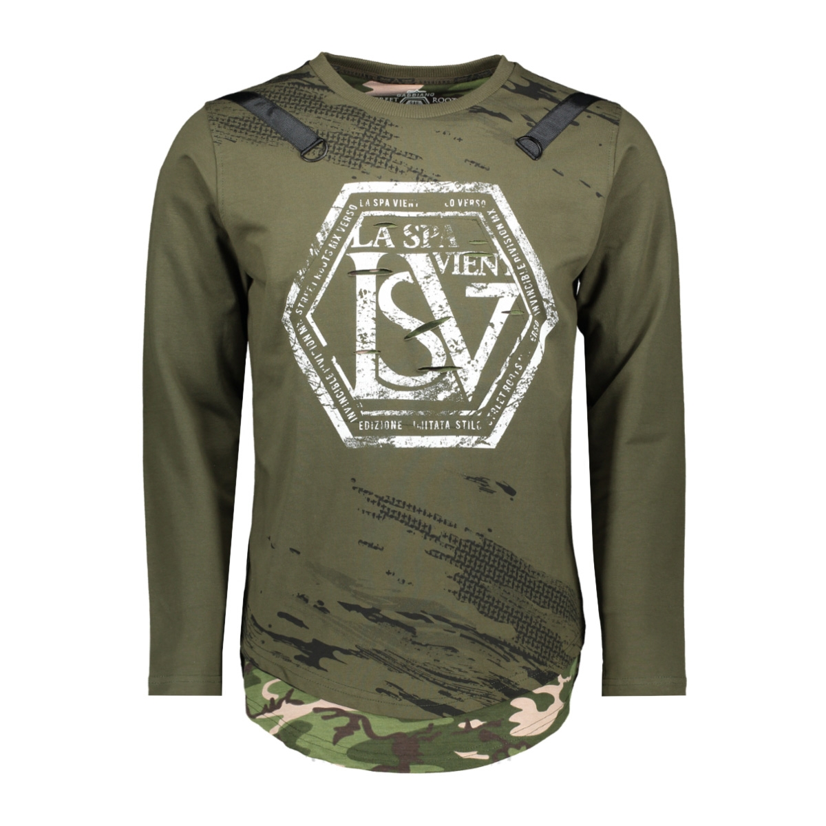 76106 gabbiano sweater army