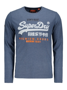 Superdry T-shirt M60019TR ZF6 Pacific Blue Heather