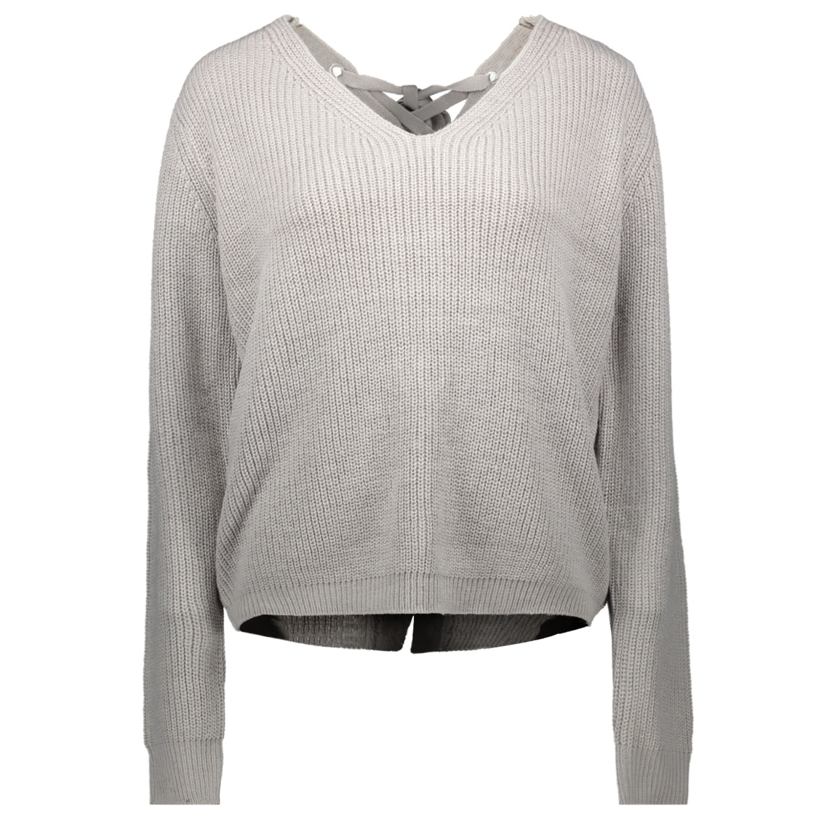 tb2356 back lace up sweater urban classics trui grey