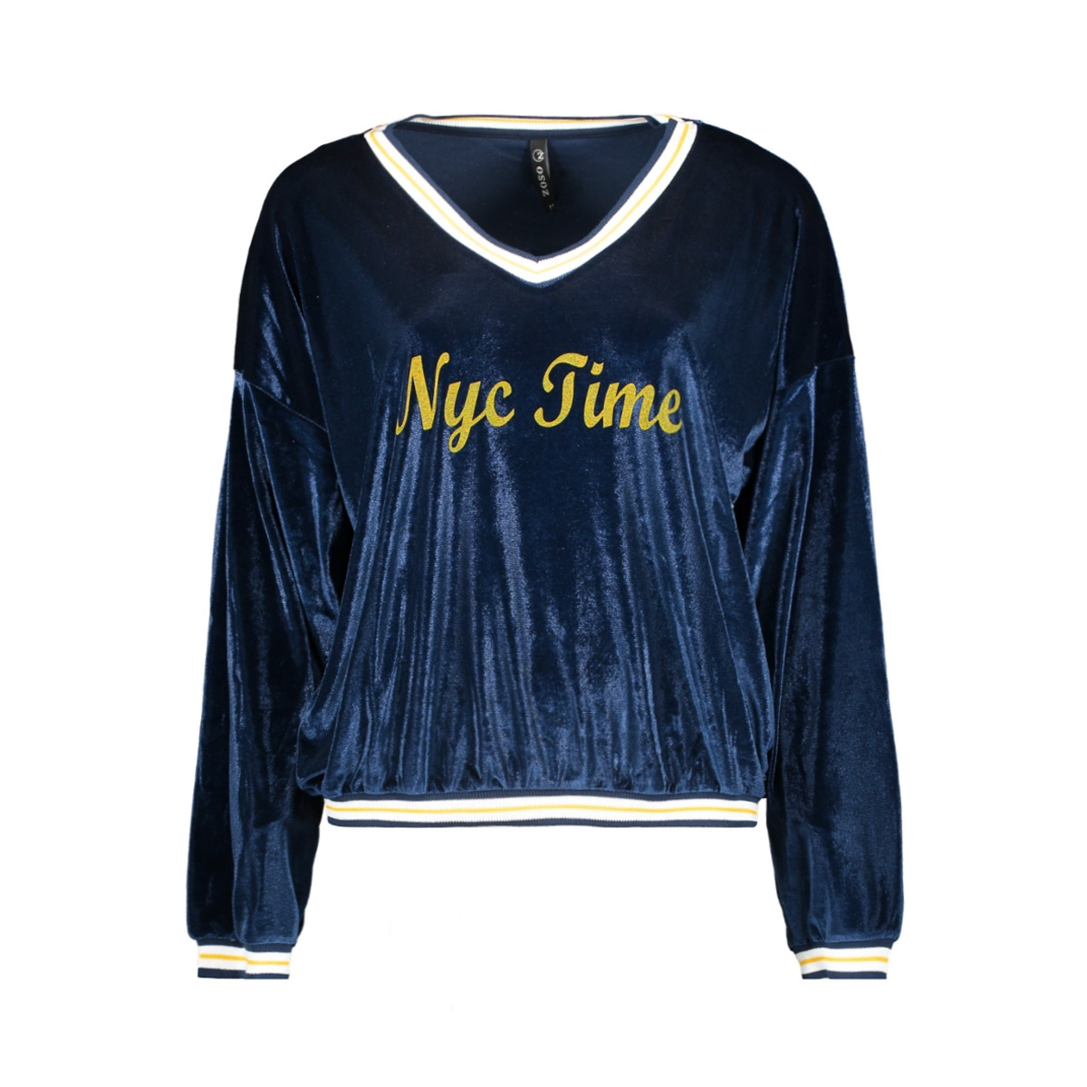 nyc time pullover zoso trui navy/yellow