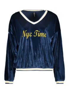 Zoso Trui NYC TIME PULLOVER NAVY/YELLOW