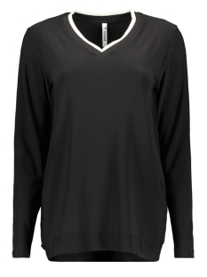 Zoso T-shirt GEA 2 V-NECK BLACK/OFF WHITE