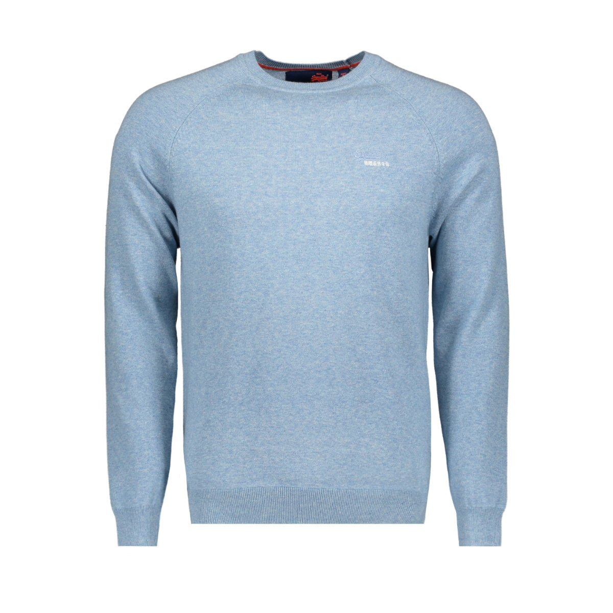 m61101gt cotton crew superdry trui parched blue grit