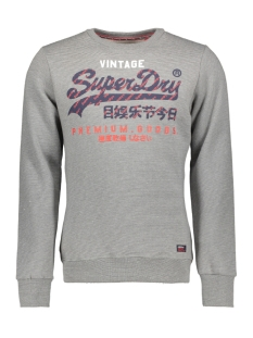 Superdry sweater M20114AT GOODS RACER CREW ATHLETIC GREY FEEDER