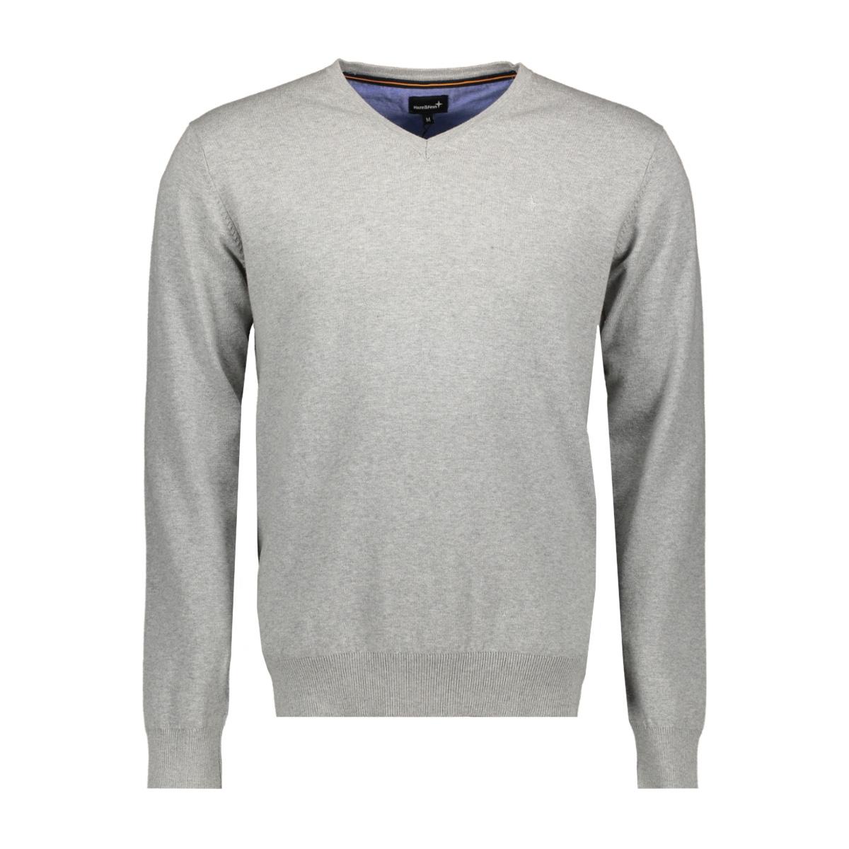 knit v me 0200 haze & finn trui light grey melange