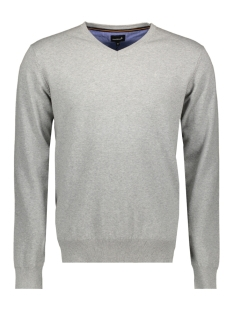 Haze & Finn Trui KNIT V ME 0200 LIGHT GREY MELANGE