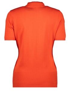 kn1909 knitted turtleneck zoso trui orange red