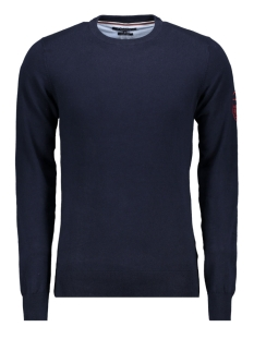 Haze & Finn Trui KNIT O BADGE MC11 0202 NAVY/RED BADGE