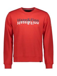 Haze & Finn sweater SWEAT QUOTE MU11 0402 RED NAVY QUOTE