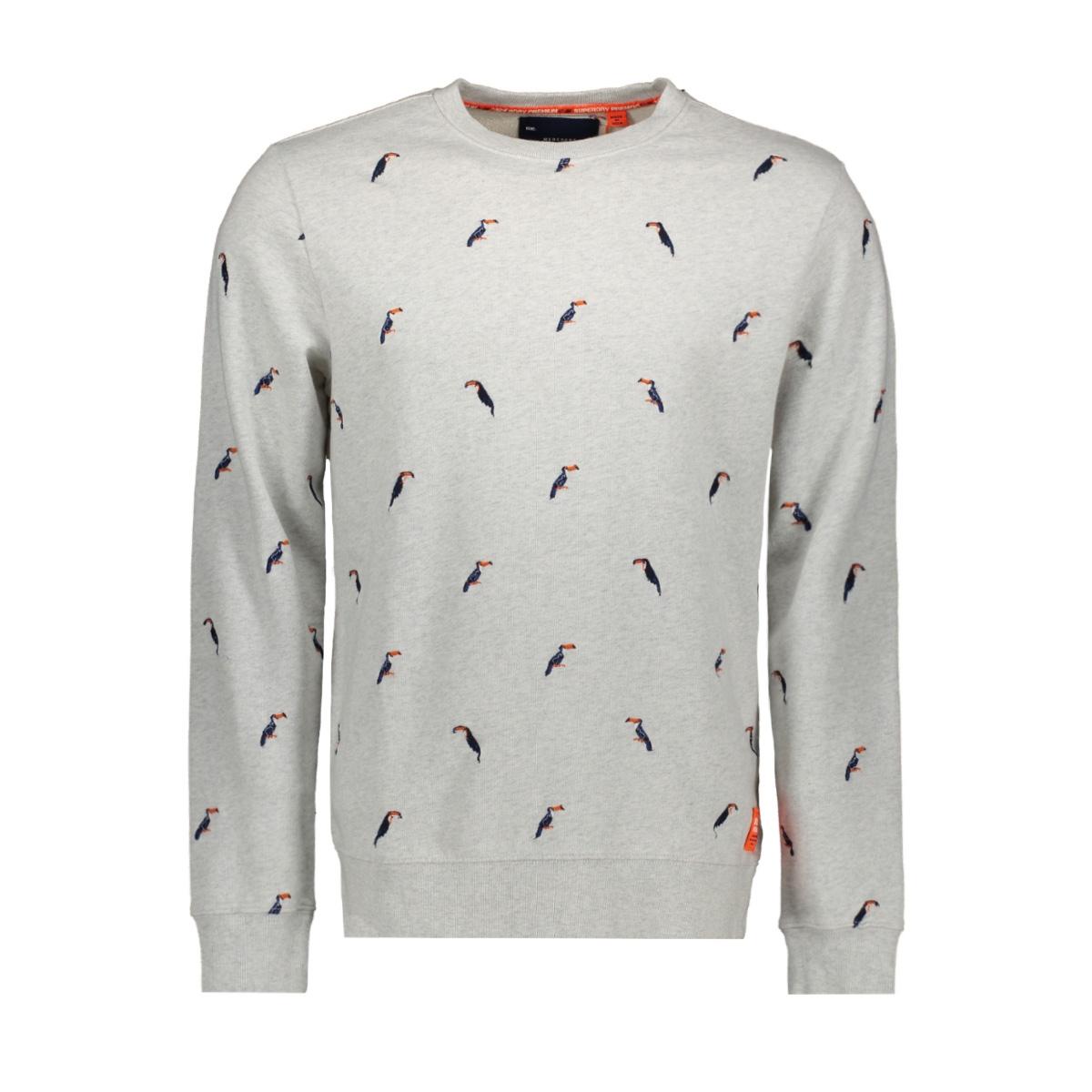 m20101et superdry sweater vintage silver marl