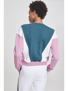 crew neck sweater tb2461 urban classics sweater jasper/pink/white
