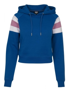 Urban Classics sweater SLEEVE STRIPED HOODY TB2459 BLUE/WHITE/PINK