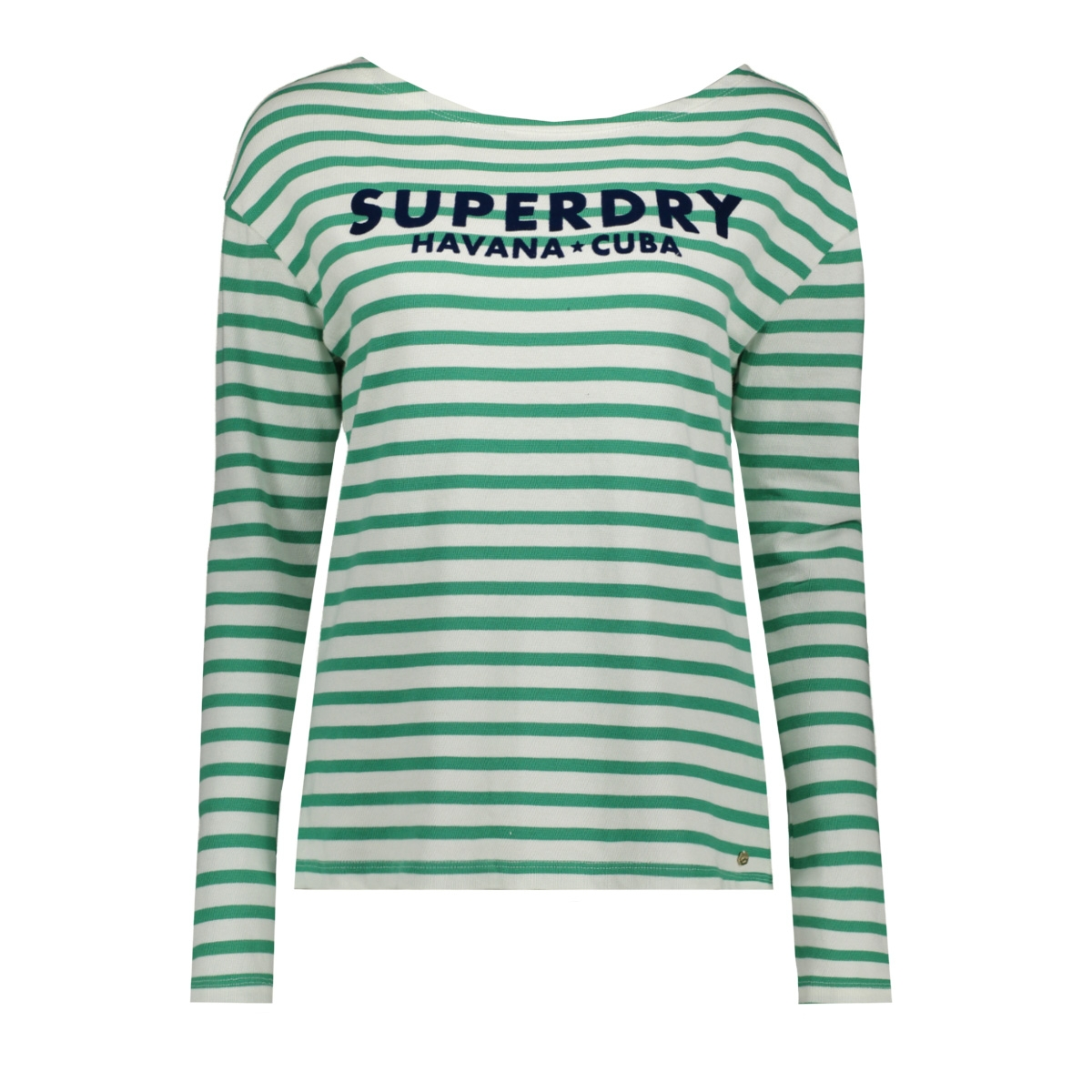 havana long sleeve g60406mu superdry trui apple green stripe