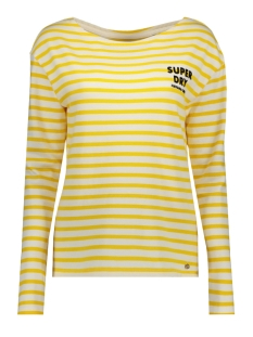 havana long sleeve g60406mu superdry trui vibrant yellow stripe