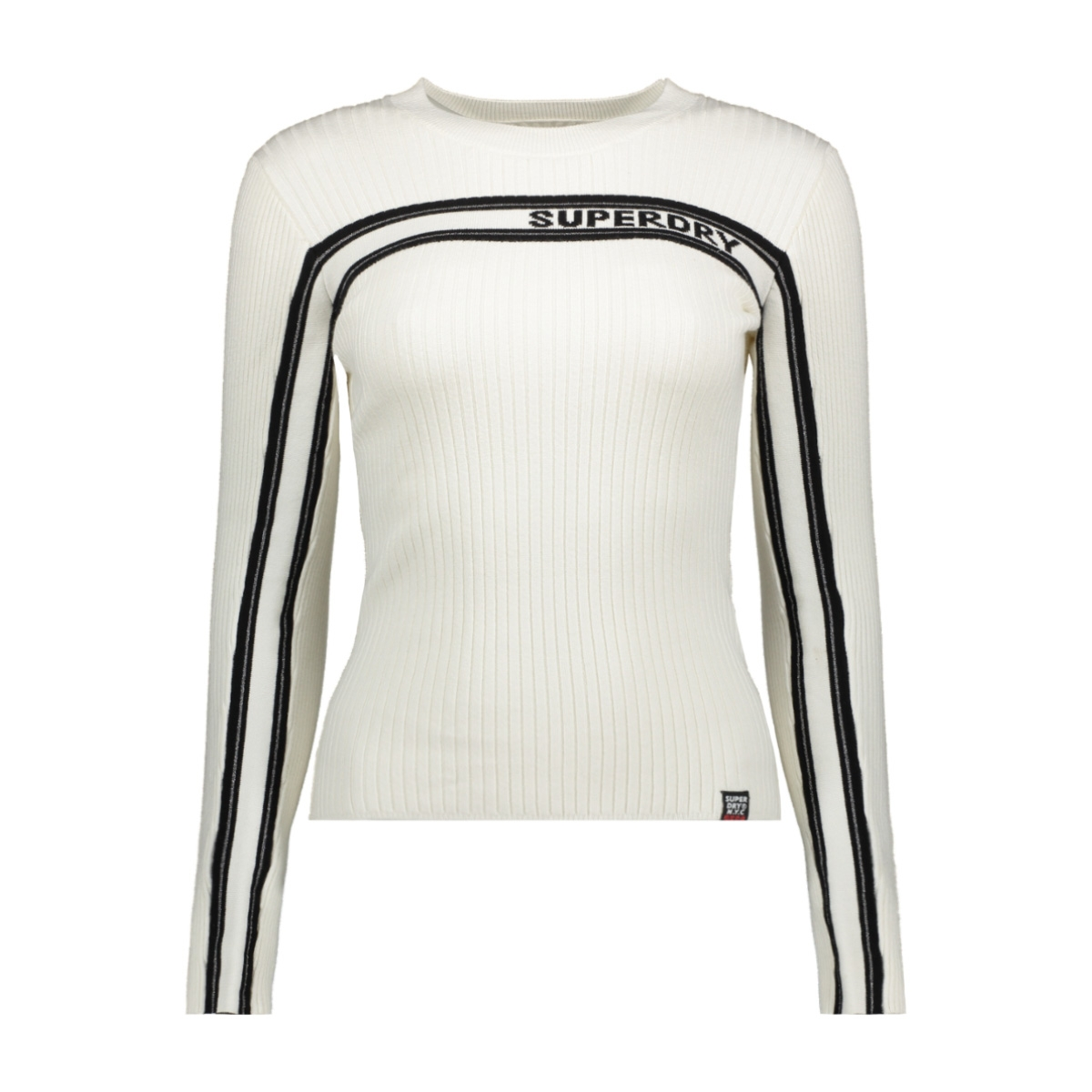 ribbed jumper w6100027a superdry trui cream