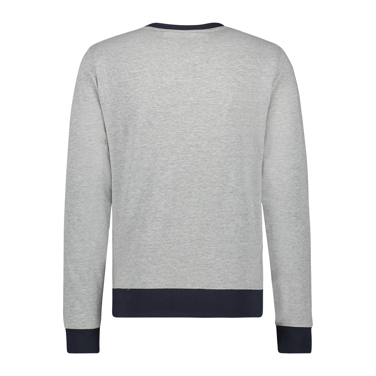 sweat arctic mu12 0444 haze & finn sweater light grey melange dark navy