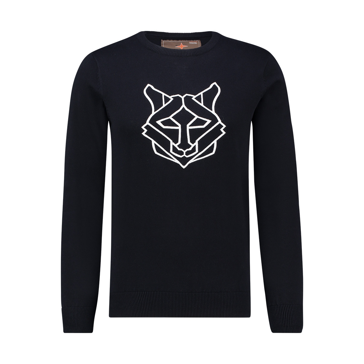 knit arctic husky mu12 0210 haze & finn trui navy grey intersia