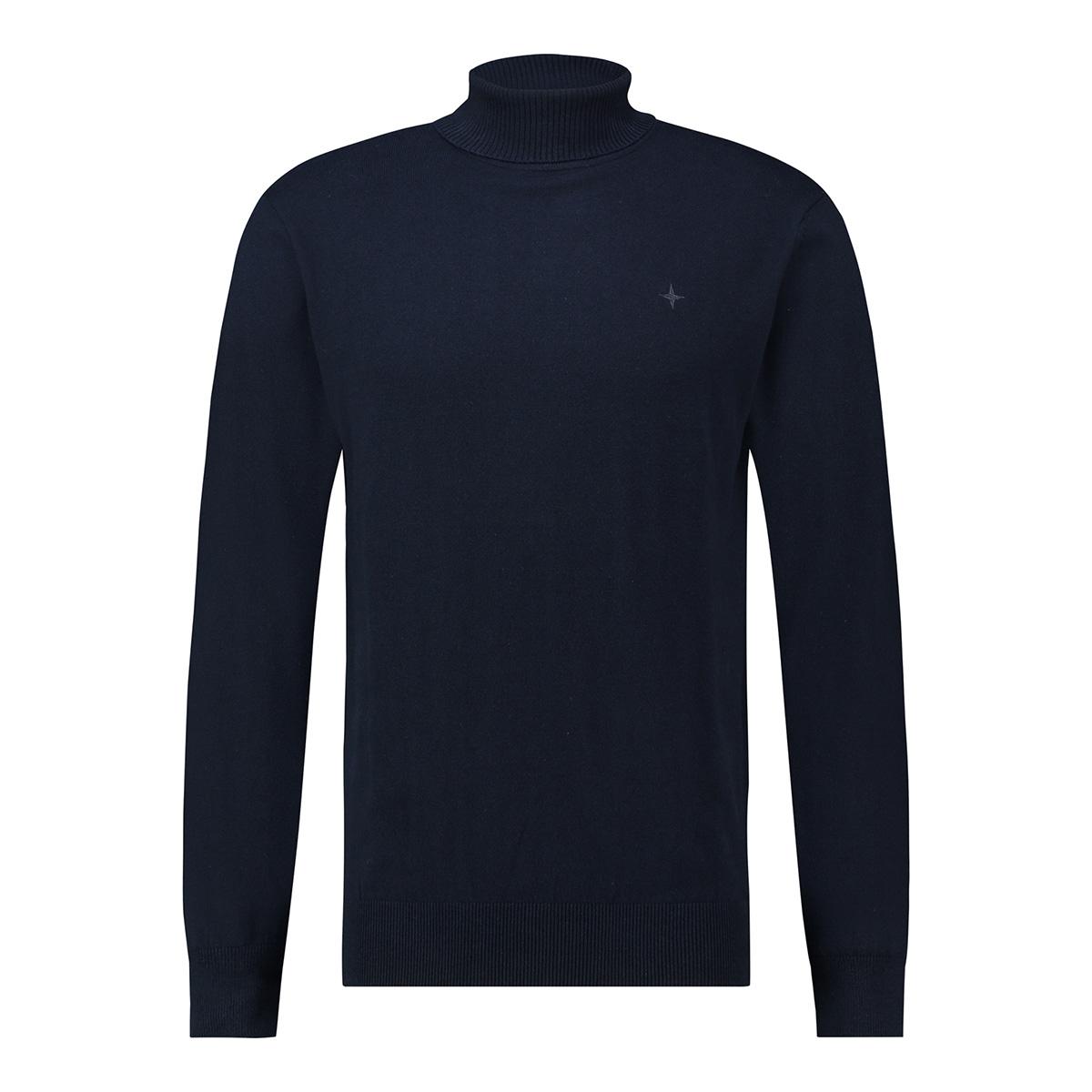 knit roll neck me 0201 haze & finn trui dark navy
