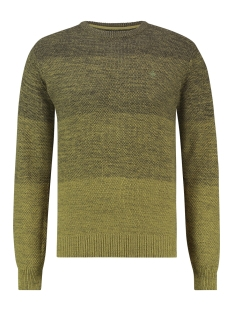 Haze & Finn Trui KNIT O DEGRADING MC12 0202 GREEN MOSS TO ARMY GREEN