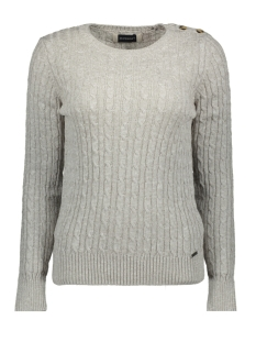 croyde cable knit w6100007a superdry trui ice grey marl