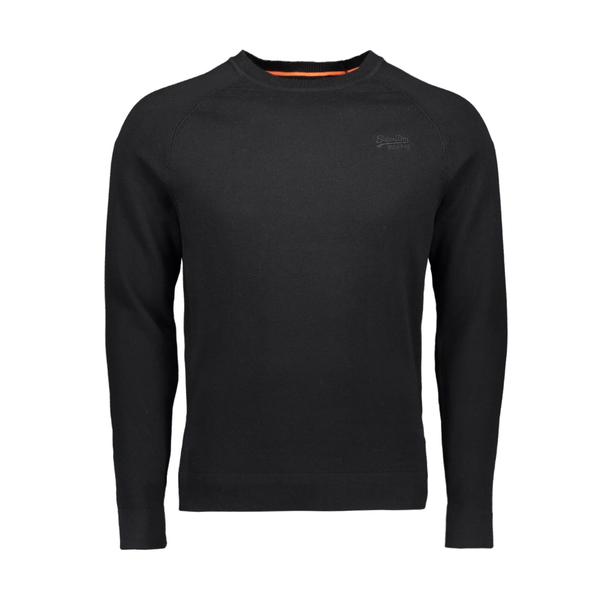 orange label cotton crew m6100025a superdry trui black