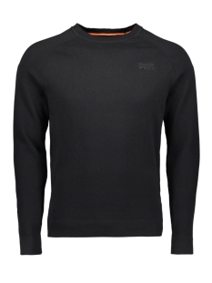Superdry Trui ORANGE LABEL COTTON CREW M6100025A BLACK