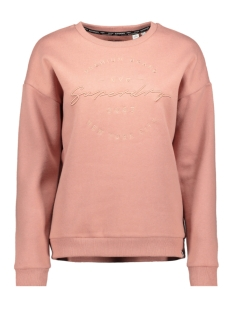 Superdry sweater APPLIQUE CREW W2000006A SMOKE ROSE