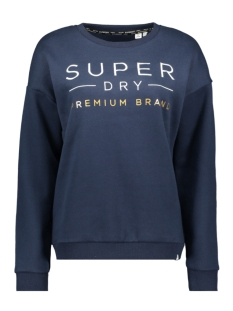 Superdry sweater APPLIQUE CREW W2000006A NAVY