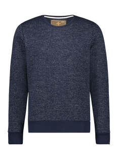 Haze & Finn sweater SWEAT STRUCTURE MU12 0404 NAVY LGM 2 TONE