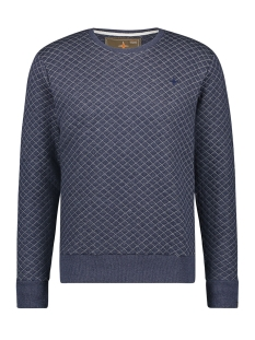 sweat qulted mu12 0402 haze & finn sweater dark navy melange