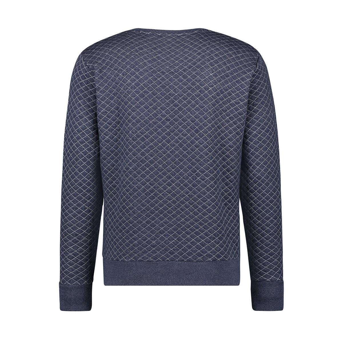 sweat qulted mu12 0402 haze & finn sweater dark navy melange