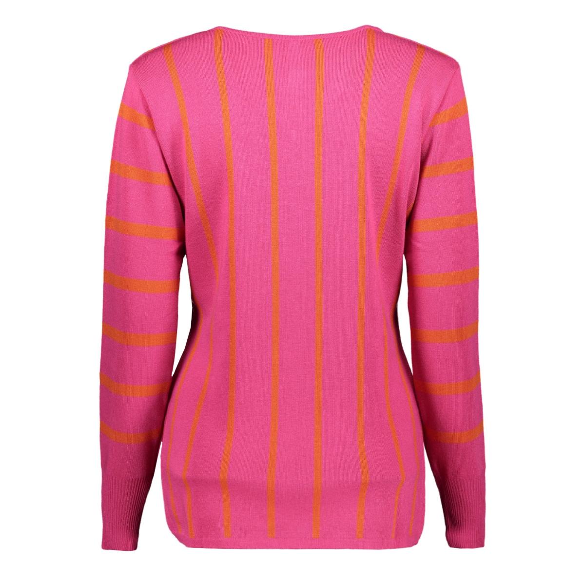 kirsten 194 striped sweater zoso trui fuchsia/orange